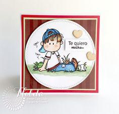 Hilda Designs: Reto de Febrero en SCC: Amistad, bugaboo Stamp, Latina Crafter sellos