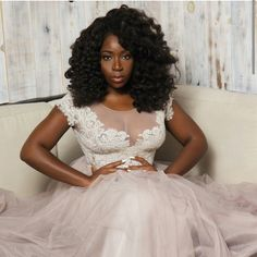 Absolutely fabulous alternative #weddingdress for @missdunnieo nuptials. #NaturalHairBride  See more bridal and hair inspiration via www.NaturalHairBride.com