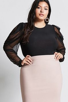 Plus Size Tops, Shirts, & Blouses | Peplum, Lace, Striped | Forever21