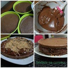 Bolo Mousse de Chocolate  Diet Low Carb passo a passo