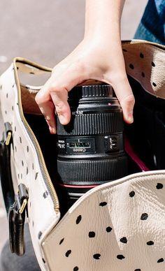 How to turn any bag into a camera bag. Click through for the details. #camera #camerabag #diy #dslr #cannon #nikon