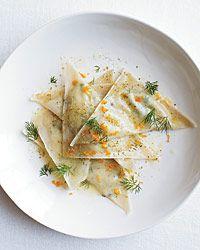 Goat Cheese Ravioli with Orange and Fennel Recipe