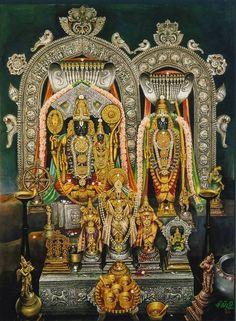 Sri Rama, Sita and Lakshmana in Bhadrachalam, Andra Pradesh Tanjore Painting, Krishna Painting, Krishna Art, Mysore Painting, Krishna Leela, Hare Krishna, Om Namah Shivaya, Holi, Karma