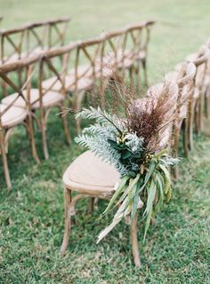 Rustic ceremony chairs: http://www.stylemepretty.com/2016/04/07/intimate-outdoor-wedding-filled-with-cultural-meaning/   Photography: Judy Pak - http://www.judypak.com/