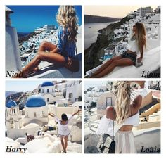 """The photo he post of you in Santorini"" by perfectharry ❤ liked on Polyvore"