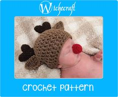 PDF PATTERN  Rudolph The Red-Nosed Reindeer Newborn Crochet