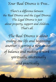 Divorce advice. Exce