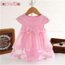 Verão arco algodão new born baby dress moda macacão de bebê para meninas miúdos verão roupas infantis do bebê meninas macacão(China (Mainland))