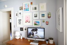 anne ingman's lovely office space