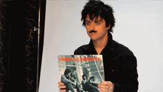 Billie Joe + Mustache + GIF = Happiness
