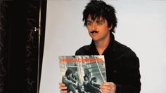 Billie Joe + Mustache + GIF = Happiness