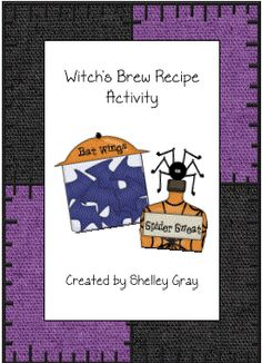 Witch's Brew Recipe Activity - In this fun Halloween-themed writing activity, students will create a recipe for Witch's Brew using the words and pictures provided. Halloween Crafts For Kids, Halloween Activities, Autumn Activities, Writing Activities, Halloween Themes, Halloween Fun, Fun Activities, Creative Class, Creative Teaching