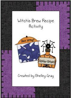 Witch's Brew Recipe Activity