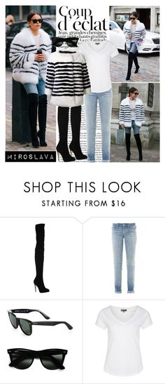 """""""Miroslava Duma Street Style"""" by cherryrose22 ❤ liked on Polyvore featuring Bela, Brian Atwood, Marc by Marc Jacobs, Ray-Ban, Zalando, Marc Jacobs, GetTheLook, StreetStyle, NYFW and fashionWeek"""