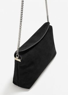 Chain leather bag - Women | MANGO USA