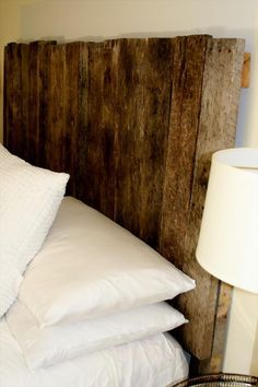 Rustic Pallet Headboard Tutorial | 99 Pallets