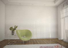 www.sakui-arquitectura.es custom vinyl sticker... retro inspired.  Decomural de vinilo en estilo retro.