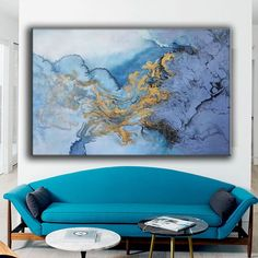 Large abstract painting original blue abstract oil painting | Etsy Large Painting, Oil Painting Abstract, Texture Painting, Abstract Wall Art, Acrylic Paintings, Abstract Landscape, Large Canvas Wall Art, Extra Large Wall Art, Blue Abstract