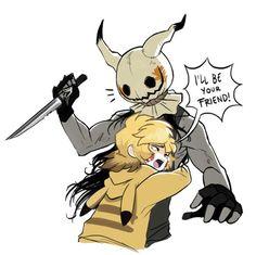I love you Mimikyu. Creepy Pokemon, Lusamine Pokemon, Gijinka Pokemon, Pokemon People, Pokemon Comics, Pokemon Memes, Pokemon Funny, Pokemon Fan Art, Pokemon Human Form