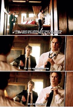 """""""The Vampire Diaries"""" - Stefan (Paul Wesley) and Damon (Ian Somerhalder) Vampire Diaries Poster, Vampire Diaries Quotes, Vampire Diaries Cast, Vampire Diaries The Originals, Damon And Stefan Salvatore, Damon Salvatore Vampire Diaries, Daimon Salvatore, The Salvatore Brothers, Hello Brother"""