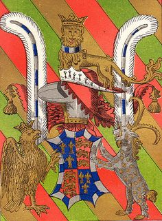 The Garter plate of John Beaufort (1403-44), with a yale supporter. (Seeing Symbols)