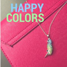 HAPPY COLORS - Kette Pappagallo - 925 Sterling Silber, blaue & grüne Kristalle https://www.juwelisto.com/halskette-pappagallo.html   PINK , GRÜN, BLAU