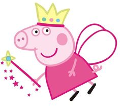My daughter loves Peppa Pig, so her birthday theme was a no-brainer. But imported party supplies are expensive and caterers are not familiar with Peppa yet, so it is up to me to DIY this event. Peppa Pig Princesa, Bolo Da Peppa Pig, Cumple Peppa Pig, Peppa Pig Printables, Party Printables, Free Printables, Pig Birthday, 4th Birthday Parties, Princess Peppa Pig Party