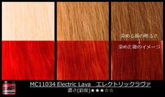#ElectricLava will give fiery results on very light hair. See how the color comes out on darker shades of blonde. #ManicPanic #ManicPanicJapan #OrangeHair