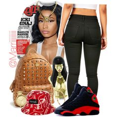 A fashion look from February 2015 featuring Nicki Minaj tops, NIKE shoes and MCM backpacks. Browse and shop related looks.