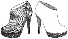 mono print ankle boots