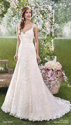 Look de noiva clássico, Vestido em corte evasê.