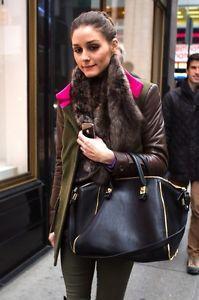 Zara-Olivia-Palermo-Zipper-Black-Leather-Bowler-Bag
