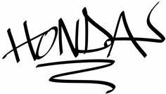 Honda Hand Style Graffiti JDM Racing | Die Cut Vinyl Sticker Decal | Sticky Addiction