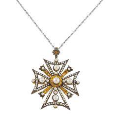 Ασημένιο επίχρυσο κολιέ με μαργαριτάρια Vintage, Diamond, Antiques, Silver, Collection, Jewelry, Antiquities, Antique, Jewlery