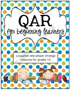 QAR for Beginners - A Question and Answer Resource product from R-is-for-Reading on TeachersNotebook.com