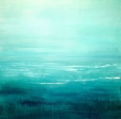 """""""Drifting Away"""" large 36""""x36"""" (2016) Acrylic painting by Laura Spring 