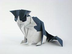 #Gato de #origami