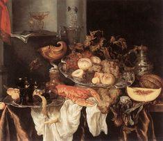 Date unknown - Beijeren, Abraham van - Still-Life - Oil on canvas, 87 x 107 cm. Koninklijk Museum voor Schone Kunsten, Antwerp