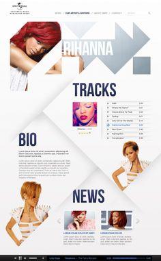 Rhianna + Web Design | Russell Hinton