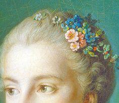 Madame Bergeret (detail) Francois Boucher, ca. 1766
