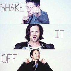 sheke it off ... Gotta love Hillywood XD || Supernatural Parody #Jensen #Jared #Misha