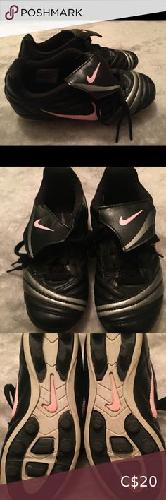 Adidas Kids Soccer Cleats Black/Pink Size ⭐️ Used - great condition! Adidas Kids, Nike Kids, Black Adidas, Black Nikes, Kids Soccer Cleats, Nikes Girl, Adidas Shoes, Toddler Girl, Fashion Design