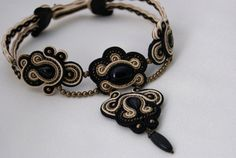Soutache Choker Necklace  Milady by BeadsRainbow on Etsy, €198.00