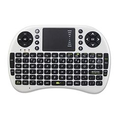 Introducing ZHISHAN Mini 24GHz Black Wireless Keyboard with Touchpad for PC Pad Andriod TV Box Google TV Box Xbox360 PS3  HTPC IPTV White. Great product and follow us for more updates!