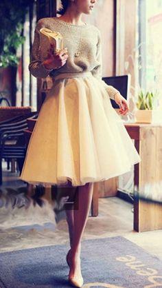 outfits con faldas de tul - Buscar con Google
