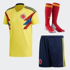 e8e2fd04a 2018 World Cup Kit Colombia Home Replica Yellow Full Suit 2018 World Cup  Kit Colombia Home Replica Yellow Full Suit