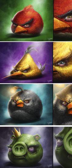 Angry Birds by Sam Spratt