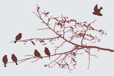 birds in the spring Pixerstick Sticker - Animals
