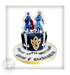 Fire Emblem Marth and Innes cake