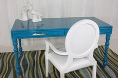 Turquoise Hollywood Desk
